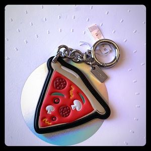 Coach NYC Pizza Slice Keychain